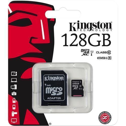 Карта памяти Kingston microSDXC Class 10 UHS-I 45MB/s 128GB (SDC10G2/128GB)microSD<br>Карта памяти Kingston microSDXC Class 10 UHS-I 45MB/s 128GB (SDC10G2/128GB)<br>