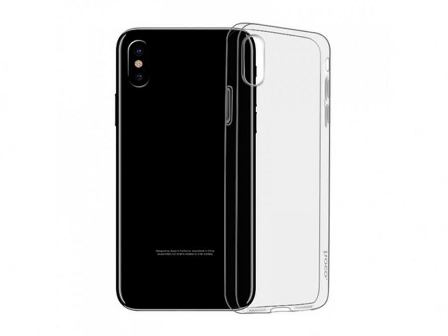 Купить Чехол-накладка ультратонкий 0.3mm для Apple iPhone XS Max силиконовый прозрачный
