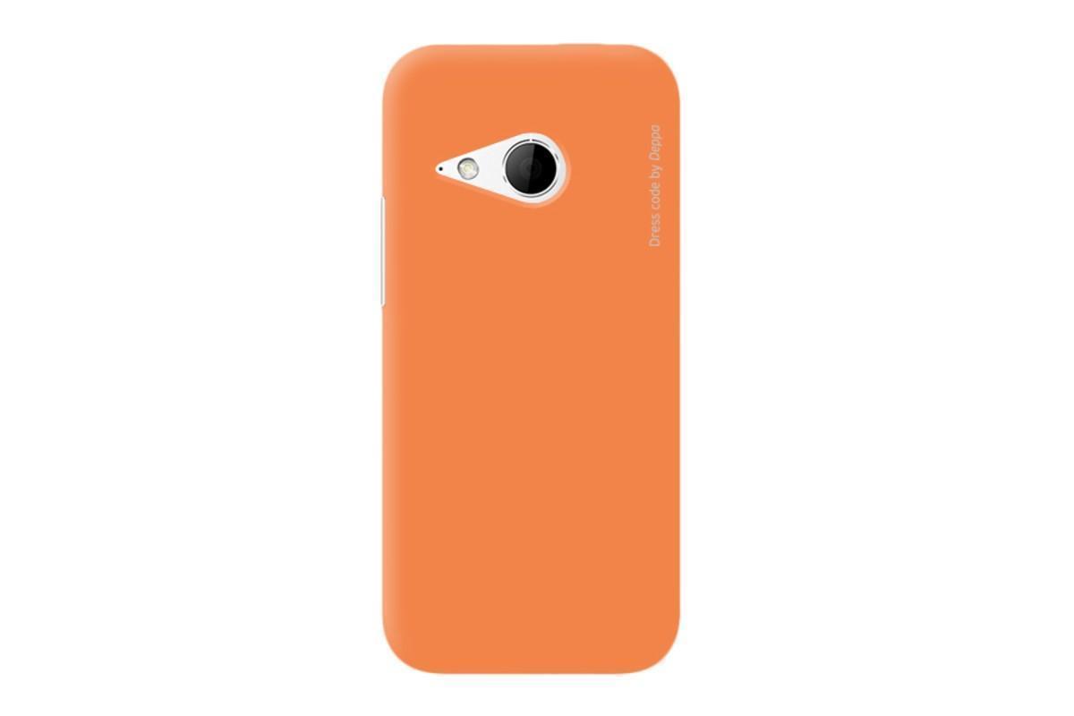 Чехол-накладка Deppa Air Case для HTC One mini 2 / M8 mini оранжевый + защитная пленкадля HTC<br>Чехол-накладка Deppa Air Case для HTC One mini 2 / M8 mini оранжевый + защитная пленка<br>