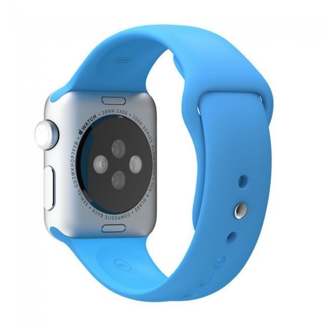 Ремешок силиконовый Rock Sport Band для Apple Watch Series 1/2 38мм blueРемешки и браслеты для умных часов Apple<br>Ремешок силиконовый Rock Sport Band для Apple Watch Series 1/2 38мм blue<br>