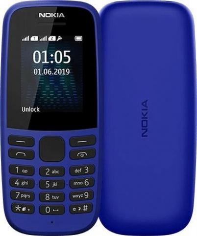Nokia 105 SS (2019) (Синий) (16KIGL01A13)