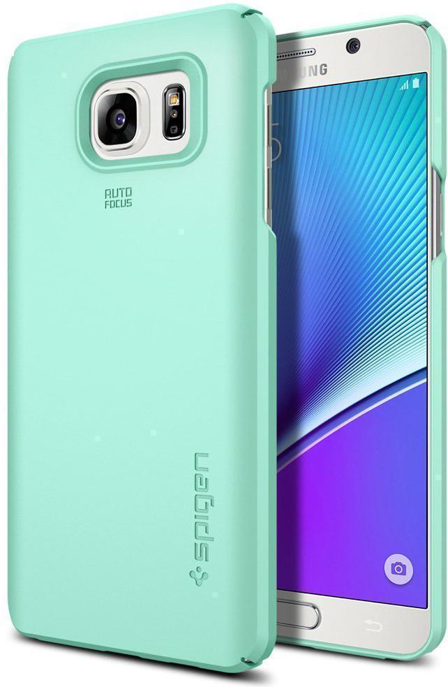 Чехол-накладка Spigen SGP11681 Thin Fit для Samsung Galaxy Note 5 Mintдля Samsung<br>Чехол-накладка Spigen SGP11681 Thin Fit для Samsung Galaxy Note 5 Mint<br>