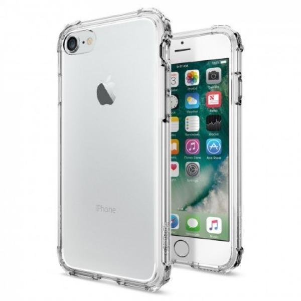 Чехол-накладка Spigen Crystal Shell для Apple iPhone 7 пластик/силико Crystal Clear (SGP 042CS20306)