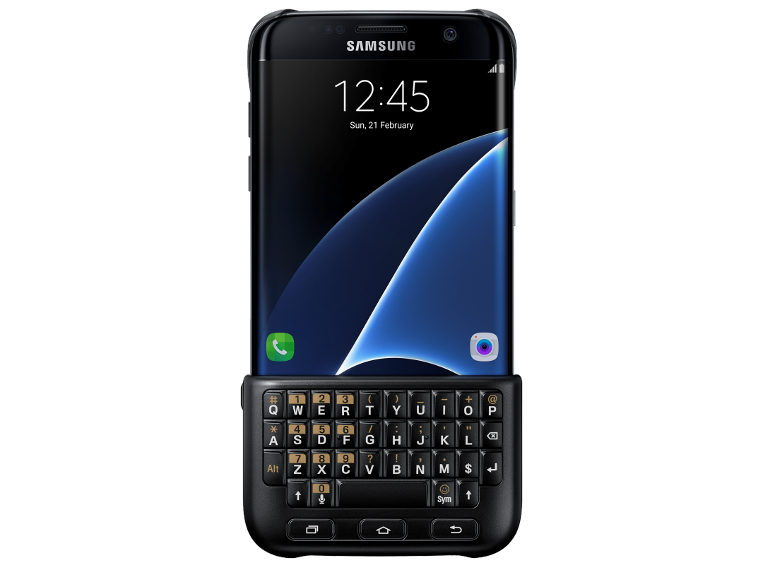 Чехол-накладка Samsung Keyboard Cover для Samsung Galaxy S7 Edge (чёрный) (EJ-CG935UBEGRU) фото