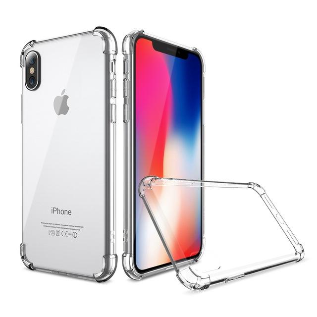 Купить Чехол-накладка Armor для Apple iPhone X/XS противоударный силиконовый (прозрачный)