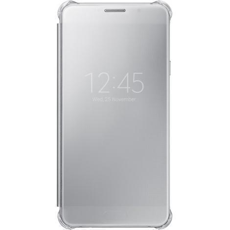 Чехол-книжка Samsung Clear View Cover для Galaxy A7 2016 поликарбонат,полиуретан silver ZA710CSEGRU