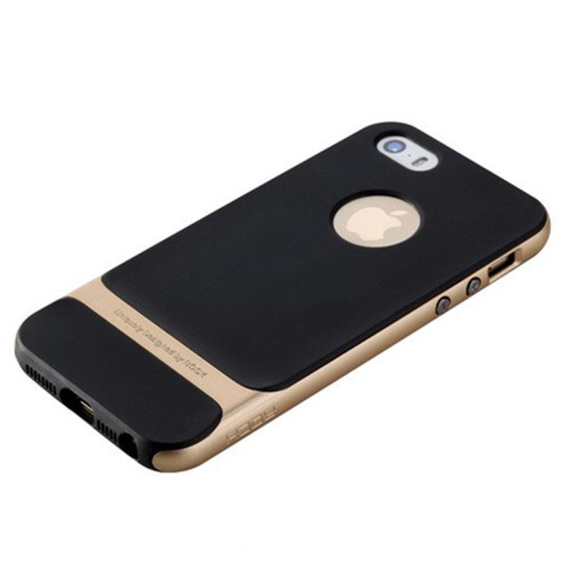 Чехол-накладка Rock Royce для Apple iPhone SE/5S/5 резина-пластик Champagne Goldдля iPhone 5/5S/SE<br>Чехол-накладка Rock Royce для Apple iPhone SE/5S/5 резина-пластик Champagne Gold<br>