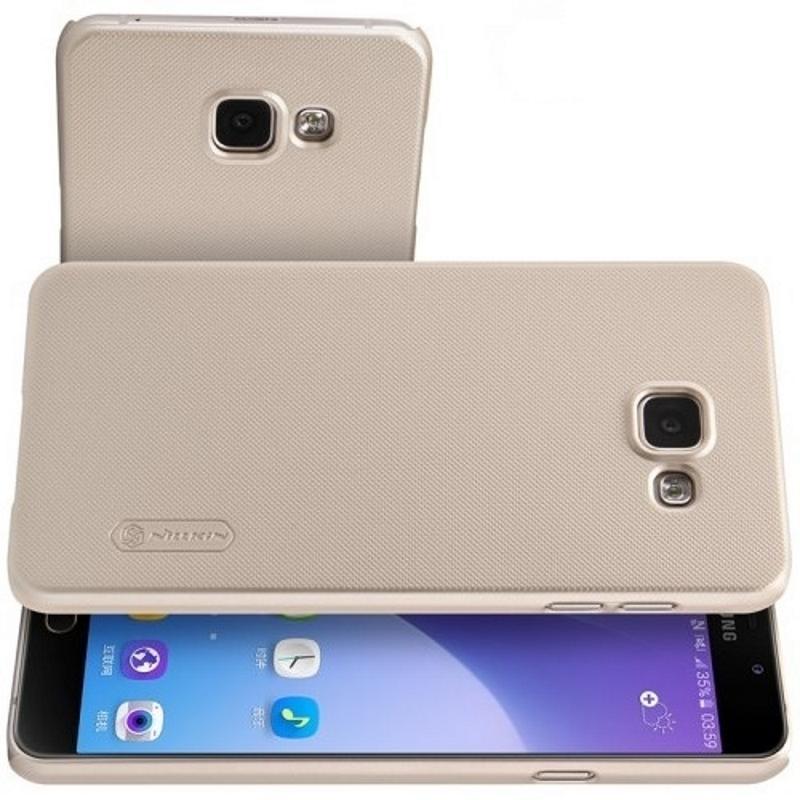 Чехол-накладка Nillkin Frosted Shield для Samsung Galaxy A5 (2016) SM-A510 пластиковый (золотой) фото
