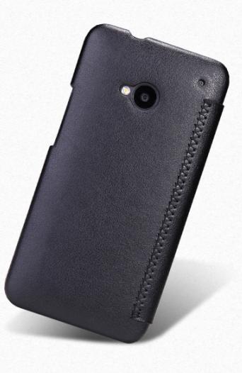 Чехол-книжка Pcaro EJ для HTC One M7 натуральная кожа черныйдля HTC<br>Чехол-книжка Pcaro EJ для HTC One M7 натуральная кожа черный<br>