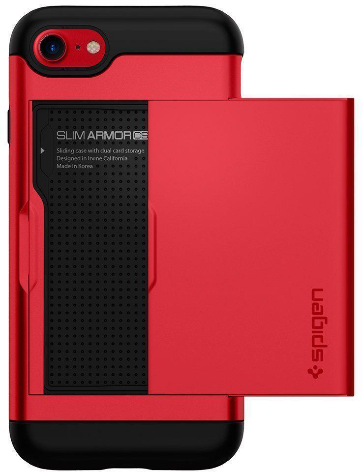 Чехол-накладка Spigen Slim Armor CS для Apple iPhone 7/8 красный (SGP 042CS21725)для iPhone 7/8<br>Чехол-накладка Spigen Slim Armor CS для Apple iPhone 7/8 красный (SGP 042CS21725)<br>