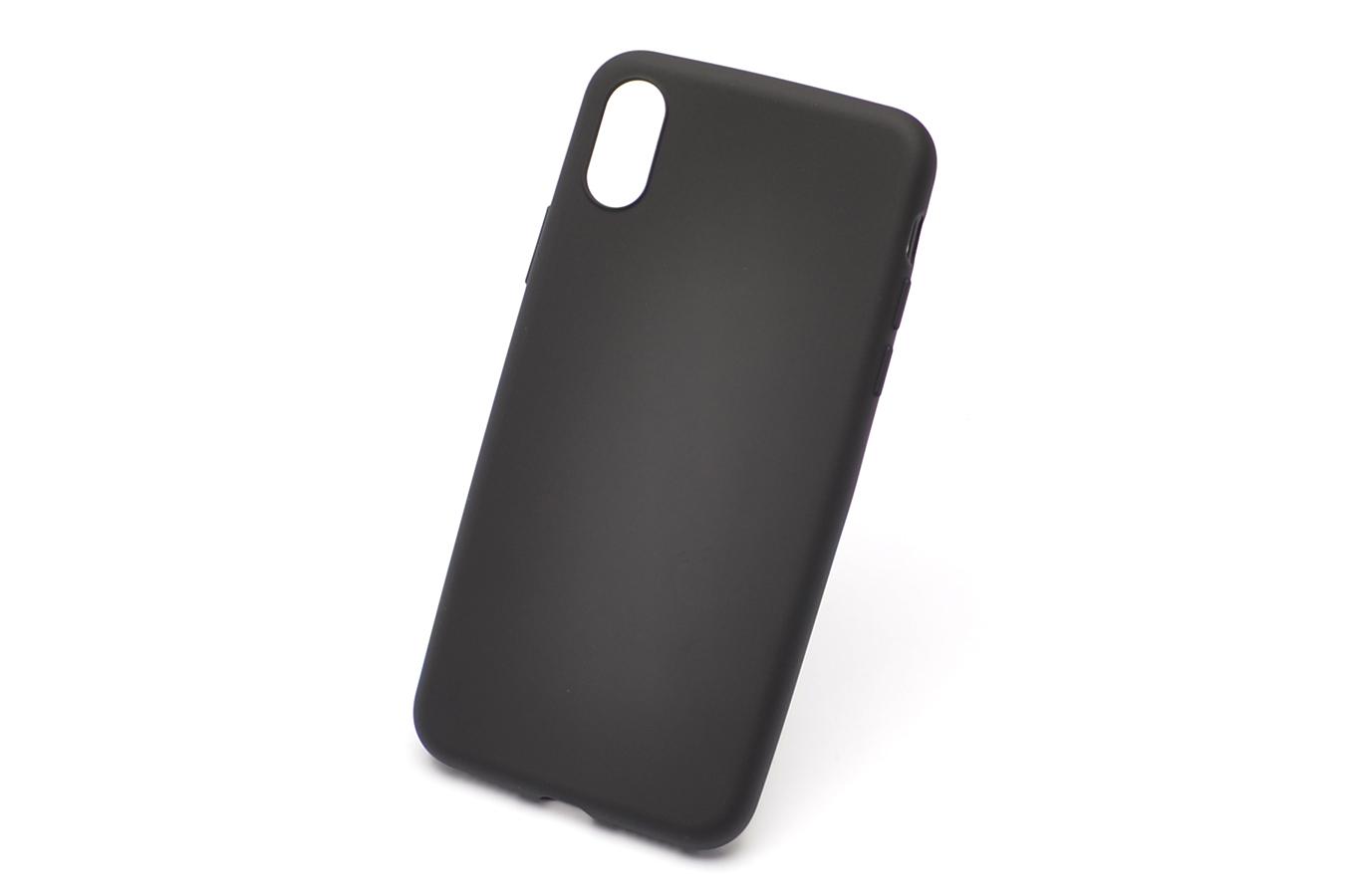 Купить Чехол-накладка ультратонкий 0.3mm для Apple iPhone XS Max силиконовый черный