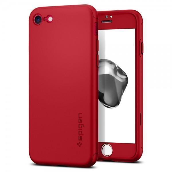 Чехол-накладка Spigen Thin Fit 360 для Apple iPhone 7/8 красный (SGP 042CS21726)для iPhone 7/8<br>Чехол-накладка Spigen Thin Fit 360 для Apple iPhone 7/8 красный (SGP 042CS21726)<br>