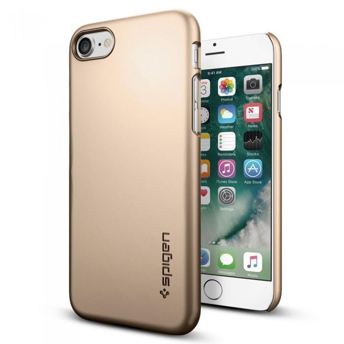 Чехол-накладка Spigen Thin Fit для Apple iPhone 7/8 пластик Champagne Gold (SGP 042CS20732)для iPhone 7/8<br>Чехол-накладка Spigen Thin Fit для Apple iPhone 7/8 пластик Champagne Gold (SGP 042CS20732)<br>