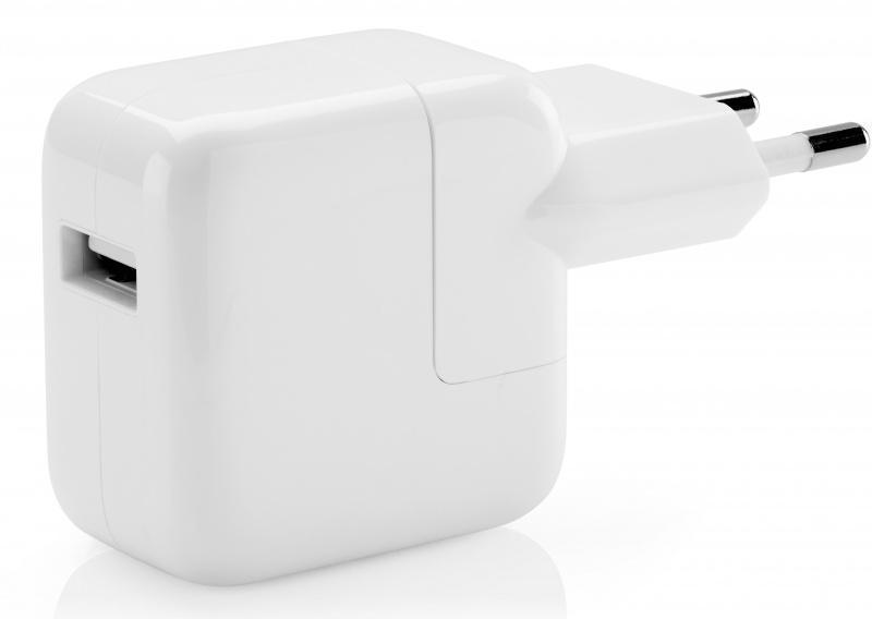 Сетевое зарядное устройство Apple iPad 2,1A USB Power Adapter белый (MD836ZM/A)