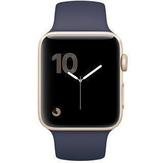 Apple Watch Series 2 42mm Gold Aluminum Case Midnight Blue Sport Band MQ152Apple Watch<br>Apple Watch Series 2 42mm Gold Aluminum Case Midnight Blue Sport Band MQ152<br>