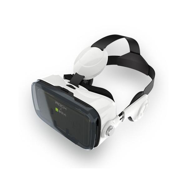 Очки-шлем виртуальной реальности с наушниками Rock Z4 VR Virtual Reality Glasses (ROT0748)Игровые приставки, геймпады и комплектующие<br>Очки-шлем виртуальной реальности с наушниками Rock Z4 VR Virtual Reality Glasses (ROT0748)<br>