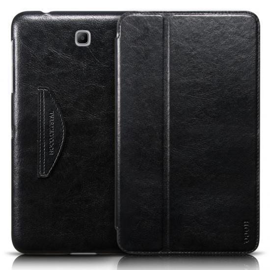 Чехол-книжка Hoco Crystal для Samsung Galaxy Tab 4 8.0 T330/T331 натуральная кожа подставкой черный