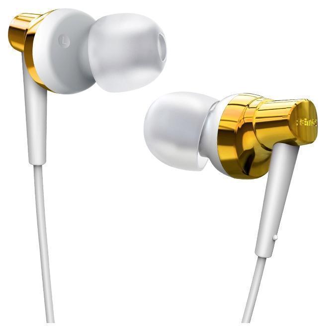 Проводная стерео-гарнитура Remax RM-575 (вакуумные с микрофоном) золотыеНаушники<br>Проводная стерео-гарнитура Remax RM-575 (вакуумные с микрофоном) золотые<br>
