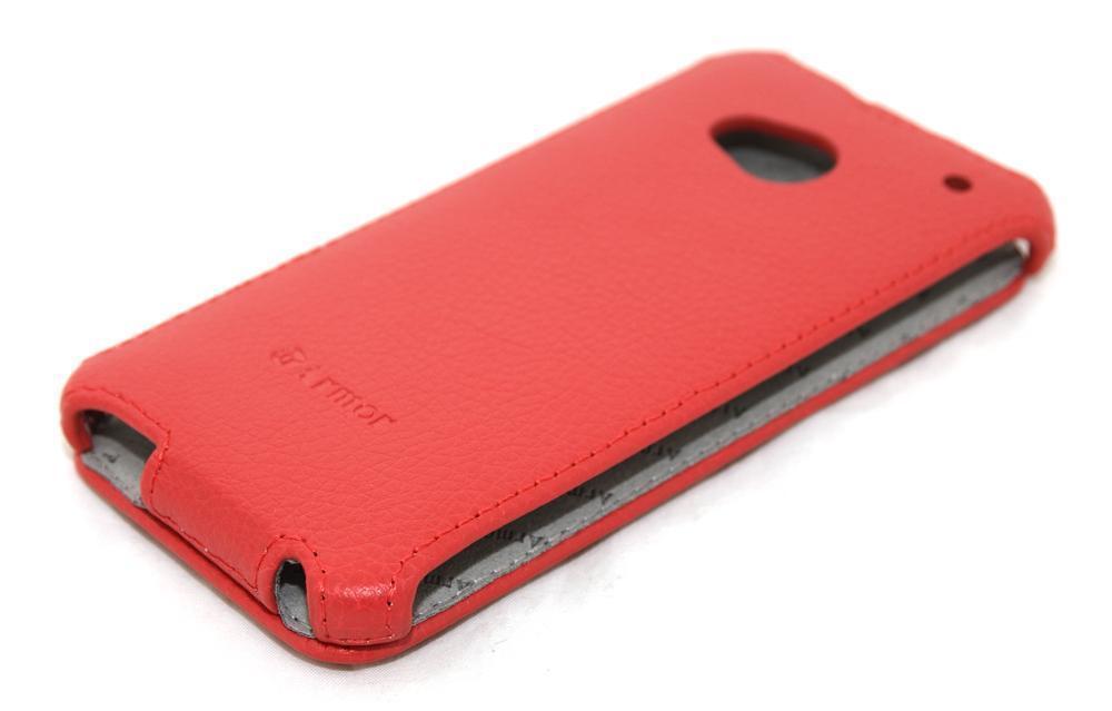 Чехол-книжка Armor Case для HTC One M7 Dual Sim искусственная кожа красныйдля HTC<br>Чехол-книжка Armor Case для HTC One M7 Dual Sim искусственная кожа красный<br>