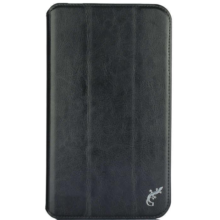 Чехол-книжка G-Case для ASUS MeMO Pad 7 ME70C (натуральная кожа с подставкой) чёрный