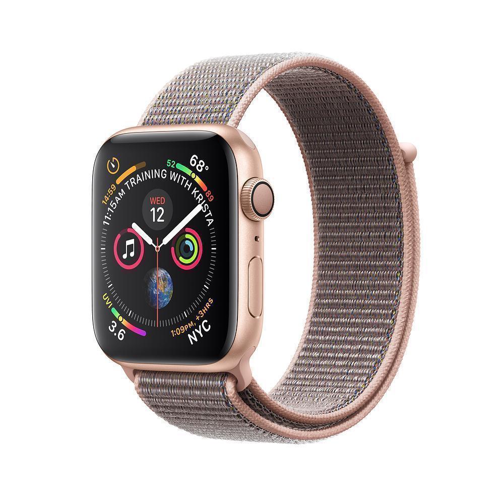 Купить Apple Watch Series 4 40mm (GPS) Gold Aluminum Case with Pink Sand Sport Loop (MU692RU/A)