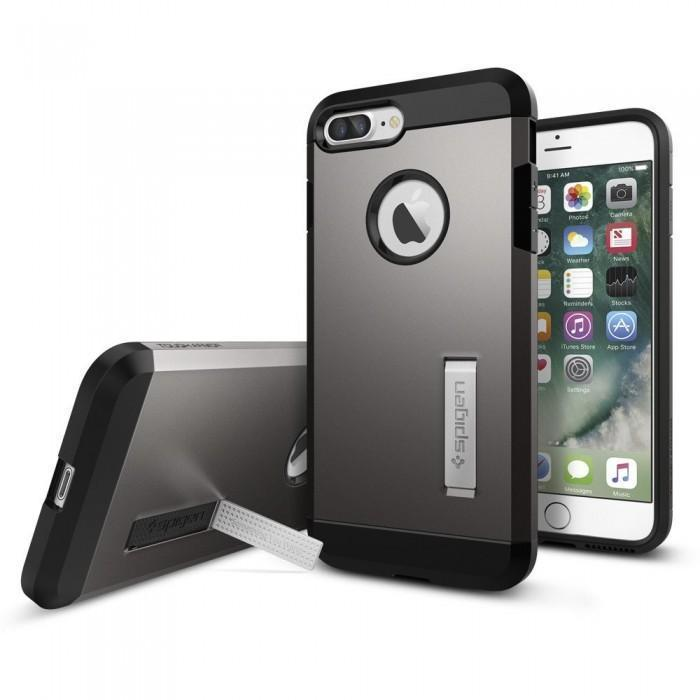 Чехол-накладка Spigen Tough Armor для Apple iPhone 7 Plus/8 Plus Темно-серый (SGP 043CS20529)для iPhone 7 Plus/8 Plus<br>Чехол-накладка Spigen Tough Armor для Apple iPhone 7 Plus/8 Plus Темно-серый (SGP 043CS20529)<br>