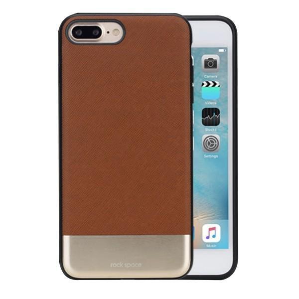 Купить со скидкой Чехол-накладка Rock Elite Series для Apple iPhone 7 Plus/8 Plus натуральная кожа-металл коричневый