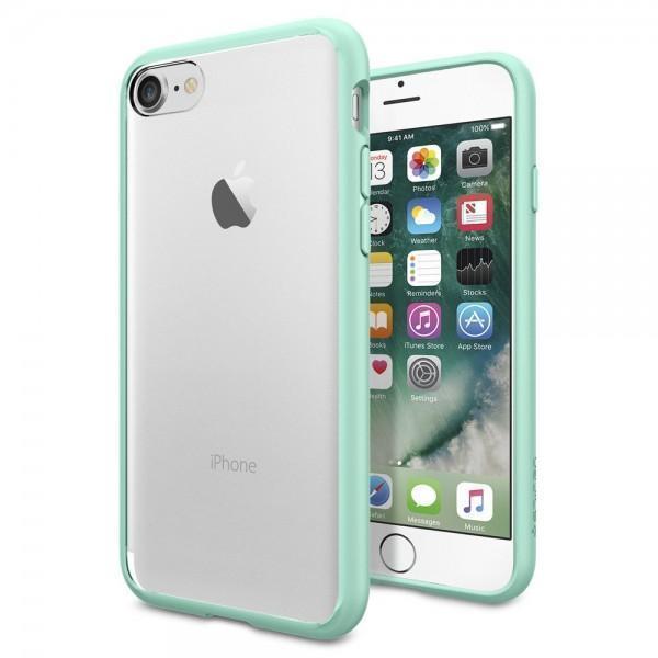 Чехол-накладка Spigen Ultra Hybrid для Apple iPhone 7/8 (SGP042CS20447) пластик, силикон Mintдля iPhone 7/8<br>Чехол-накладка Spigen Ultra Hybrid для Apple iPhone 7/8 (SGP042CS20447) пластик, силикон Mint<br>