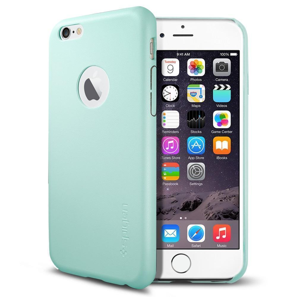 Чехол-накладка Spigen Leather Fit для Apple iPhone 6 Plus/6S Plus Mint (SGP11398)для iPhone 6 Plus/6S Plus<br>Чехол-накладка Spigen Leather Fit для Apple iPhone 6 Plus/6S Plus Mint (SGP11398)<br>