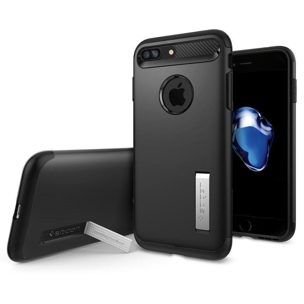 Чехол-накладка Spigen Slim Armor для Apple iPhone 7 Plus/8 Plus Black (043CS20648)для iPhone 7 Plus/8 Plus<br>Чехол-накладка Spigen Slim Armor для Apple iPhone 7 Plus/8 Plus Black (043CS20648)<br>