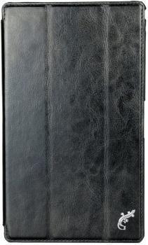 Чехол-книжка универсальный G-Case для планшетов 8 дюймов натуральная кожа с подставкой черныйУниверсальные чехлы<br>Чехол-книжка универсальный G-Case для планшетов 8 дюймов натуральная кожа с подставкой черный<br>