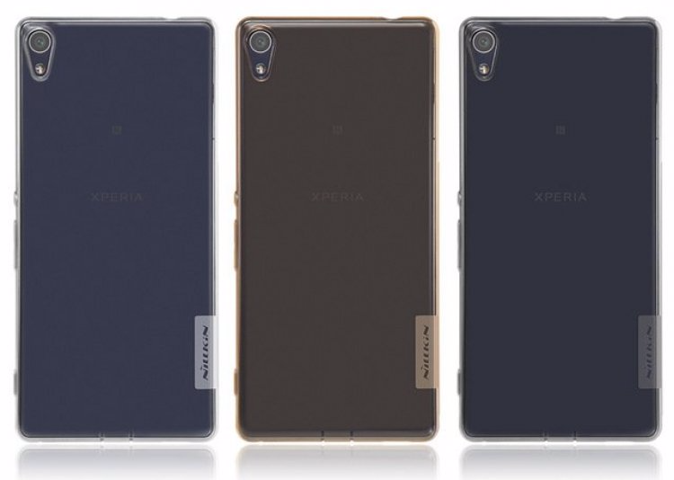 Чехол-накладка Nillkin Nature для Sony Xperia XA / XA Dual силиконовый прозрачно-золотойдля Sony<br>Чехол-накладка Nillkin Nature для Sony Xperia XA / XA Dual силиконовый прозрачно-золотой<br>