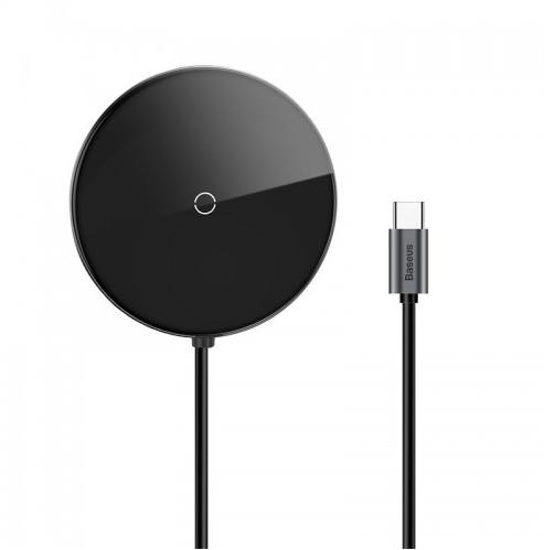Беспроводное зарядное устройство Baseus Circular Mirror Wireless Charger HUB (TYPE-C to USB 3.0*1+USB2.0*3/TYPE-C PD) (WXJMY-0G) серый