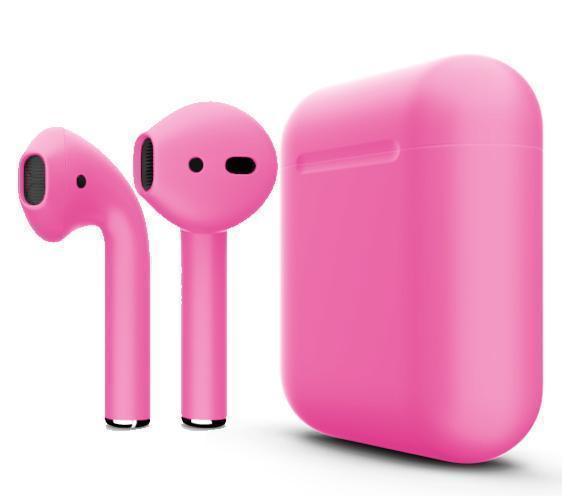 Купить Беспроводные Bluetooth cтерео-наушники Apple AirPods Matte Pink