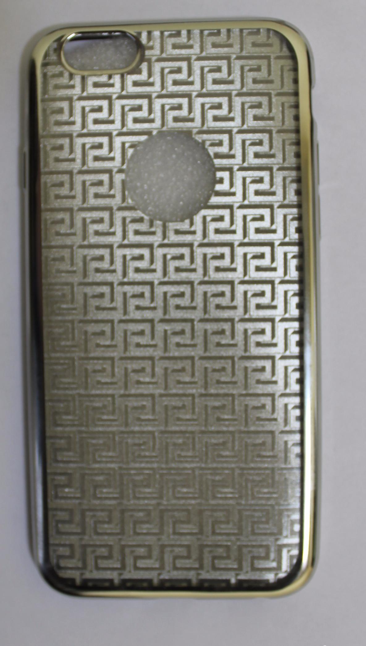 Купить Чехол-накладка Double Color Series для Apple iPhone 6/6S силиконовый стразы (вид 2) рамка Gold