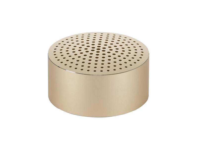 Портативная акустика Xiaomi Portable Round Box (Metal Gold) фото