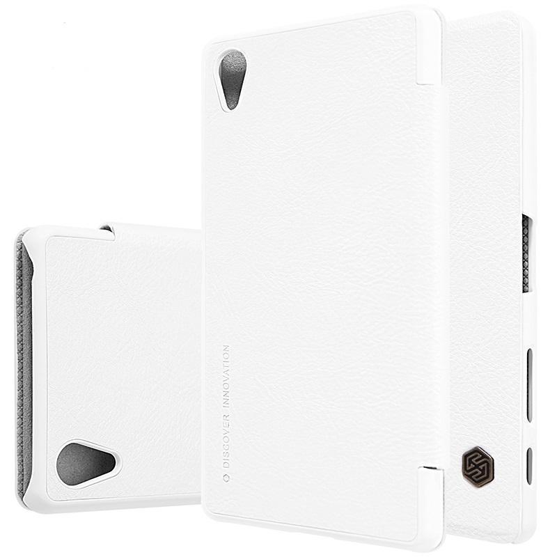 Чехол-книжка Nillkin QIN Leather Case для Sony Xperia X / X Performance  натуральная кожа белыйдля Sony<br>Чехол-книжка Nillkin QIN Leather Case для Sony Xperia X / X Performance  натуральная кожа белый<br>