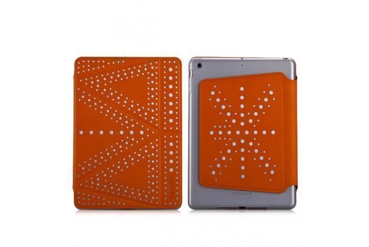 Чехол-книжка The Core Polka для Apple iPad mini 1/2/3 (силикон полиуретан с подставкой) оранжевыйдля Apple iPad mini 1/2/3<br>Чехол-книжка The Core Polka для Apple iPad mini 1/2/3 (силикон полиуретан с подставкой) оранжевый<br>