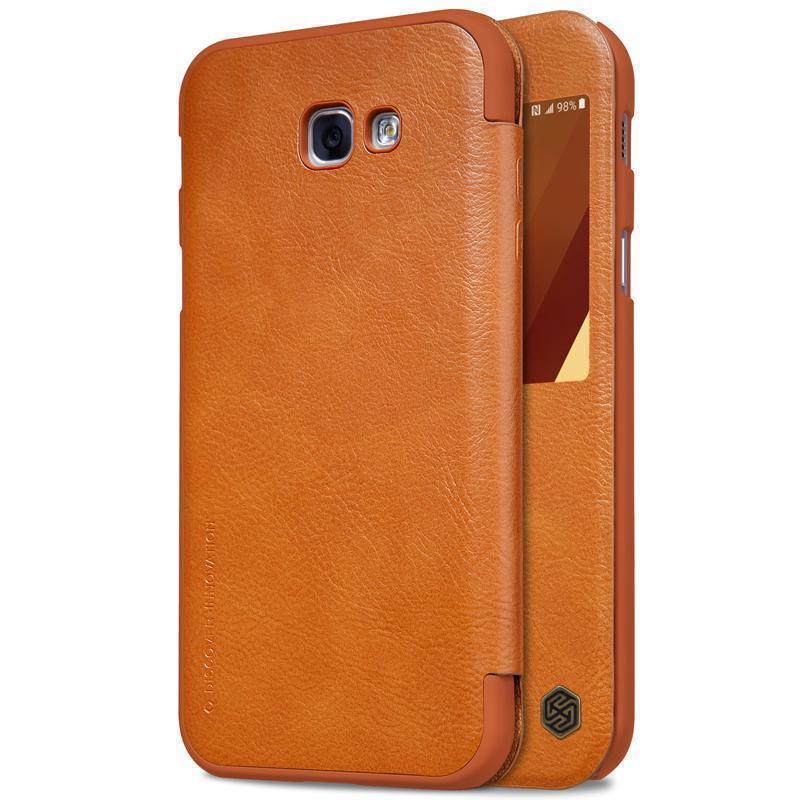 Чехол-книжка Nillkin QIN Leather Case для Samsung Galaxy A7 (2017) A720 натуральная кожа коричневыйдля Samsung<br>Чехол-книжка Nillkin QIN Leather Case для Samsung Galaxy A7 (2017) A720 натуральная кожа коричневый<br>