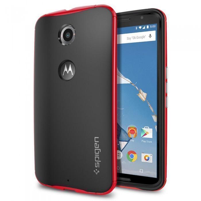 Чехол-накладка Spigen Neo Hybrid (SGP11240) для Motorola Nexus 6 резина, пластик Красныйдля Motorola<br>Чехол-накладка Spigen Neo Hybrid (SGP11240) для Motorola Nexus 6 резина, пластик Красный<br>
