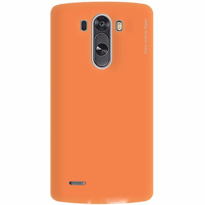 Чехол-накладка Deppa Air Case для LG G3 / G3 Dual / D855 / D858 пластик оранжевый + защитная пленкадля LG<br>Чехол-накладка Deppa Air Case для LG G3 / G3 Dual / D855 / D858 (пластиковы) оранжевый + защитная пленка<br>
