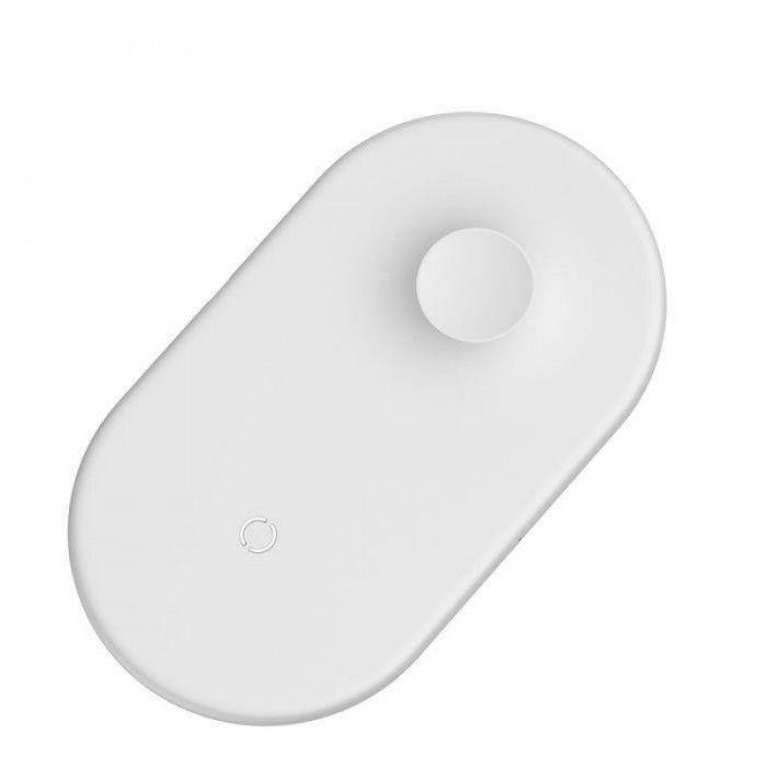 Беспроводное зарядное устройство Baseus Dual Wireless Charger (WX2IN1-02) на два устройства (белый)