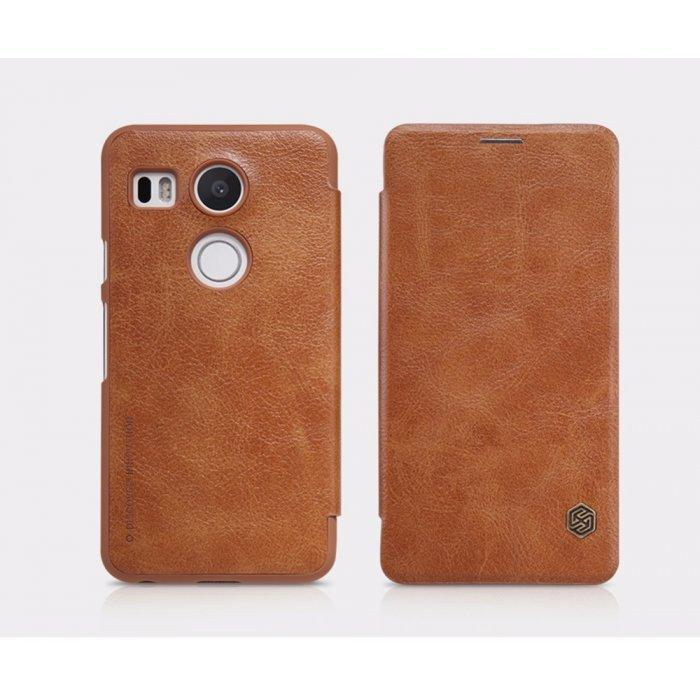 Чехол-книжка Nillkin QIN Leather Case для LG Nexus 5X натуральная кожа коричневый