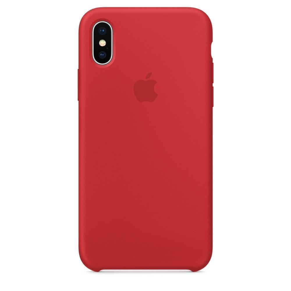 Купить Чехол-накладка Silicone Case Series для Apple iPhone X (10) (PRODUCT) Red