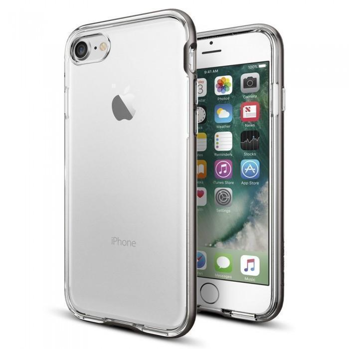 Чехол-накладка Spigen Neo Hybrid Crystal для Apple iPhone 7/8 пластик/силикон Gunmetal (042CS20522)для iPhone 7/8<br>Чехол-накладка Spigen Neo Hybrid Crystal для Apple iPhone 7/8 пластик/силикон Gunmetal (042CS20522)<br>