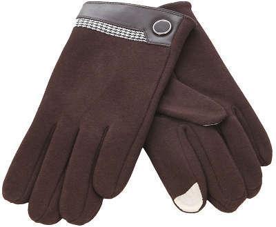 Перчатки для смартфона iCasemore кашемировые с кнопкой коричневыеПерчатки для смартфона<br>Перчатки для смартфона iCasemore кашемировые с кнопкой коричневые<br>