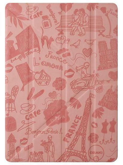 Чехол-книжка Ozaki O!coat Travel Paris для Apple iPad Air / (2017) полиуретан с подставкой розовыйдля Apple iPad Air<br>Чехол-книжка Ozaki O!coat Travel Paris для Apple iPad Air / (2017) полиуретан с подставкой розовый<br>