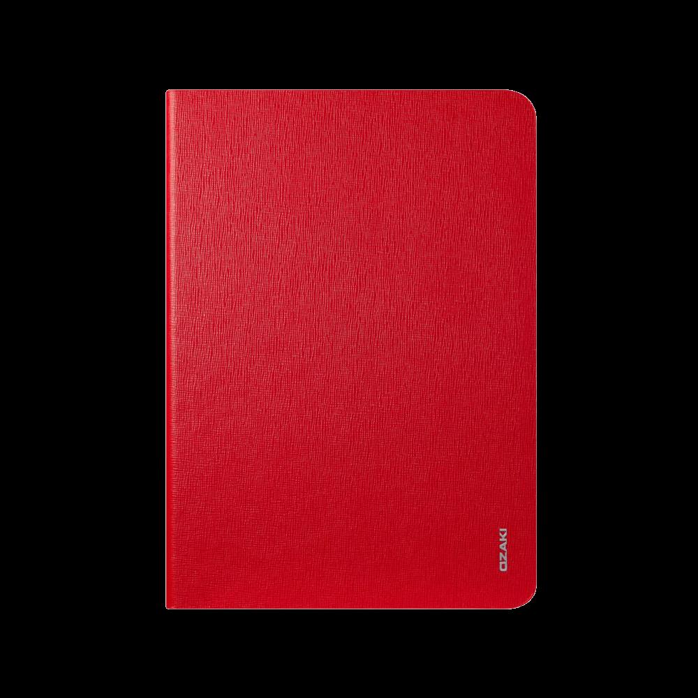 Чехол-книжка Ozaki O!coat Slim для Apple iPad Air (натуральная кожа с подставкой) красныйдля Apple iPad Air<br>Чехол-книжка Ozaki O!coat Slim для Apple iPad Air (натуральная кожа с подставкой) красный<br>