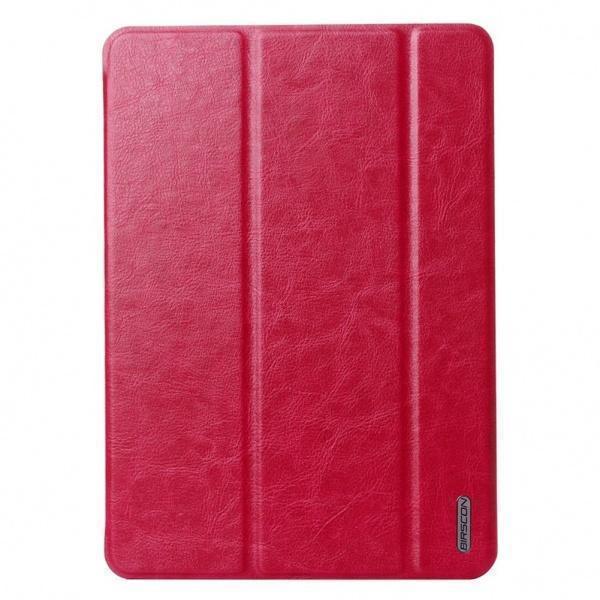 Чехол-книжка Birscon Fashion Series для Apple iPad Air 2 (искусственная кожа с подставкой) Rose Redдля Apple iPad Air 2<br>Чехол-книжка Birscon Fashion Series для Apple iPad Air 2 (искусственная кожа с подставкой) Rose Red<br>