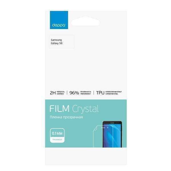 Защитная пленка Deppa TPU (61437) для Samsung Galaxy S8 (SM-G950) на всю поверхность экранадля Samsung<br>Защитная пленка Deppa TPU (61437) для Samsung Galaxy S8 (SM-G950) на всю поверхность экрана<br>